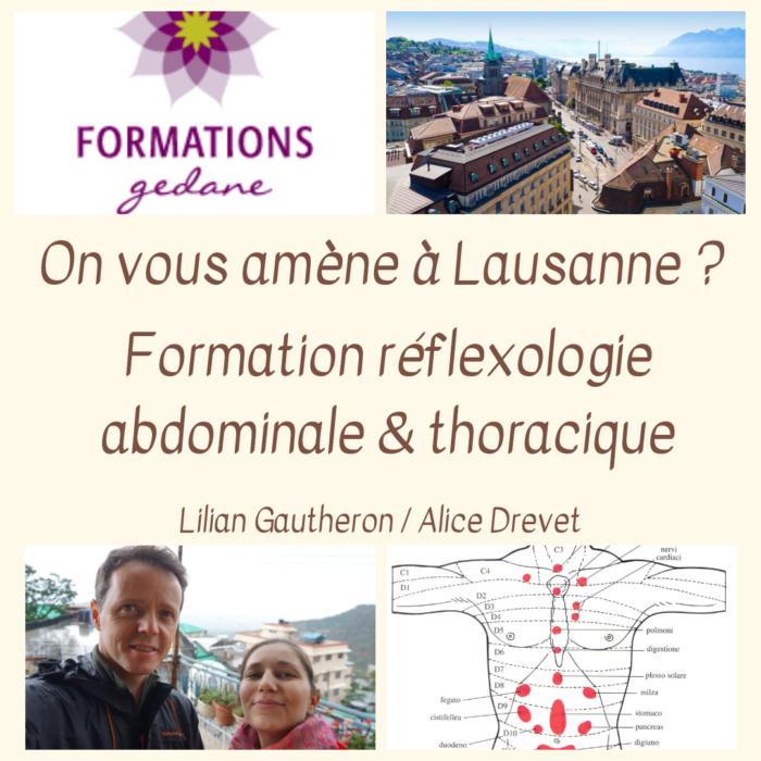 Lausanne, Gédane, L & A formations, réflexologie, Lilian Gautheron, Alice Drevet